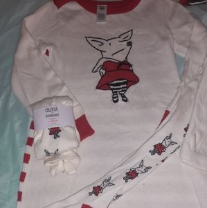 Olivia Gymboree girls 8 sweater dress tights NWT